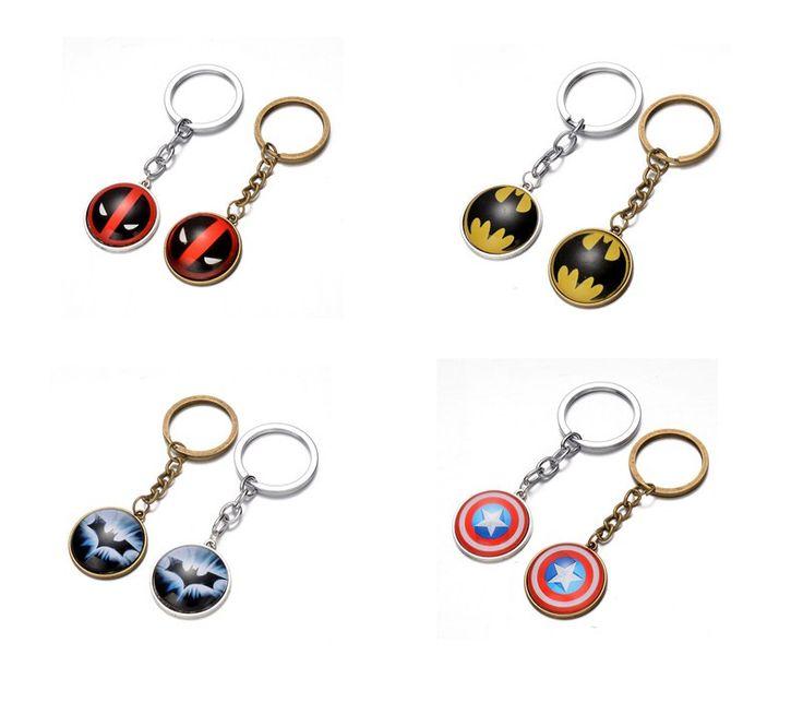 1pcs 2017 Newest Avengers Figure Superhero Superman Batman Keychain Pendant X-man Alloy Key Rings For Toys Gift