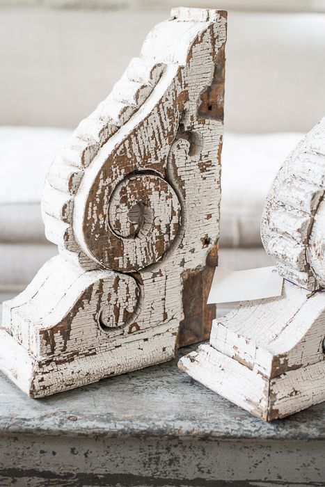 chippy, chunky antique corbel set | miss mustard seed