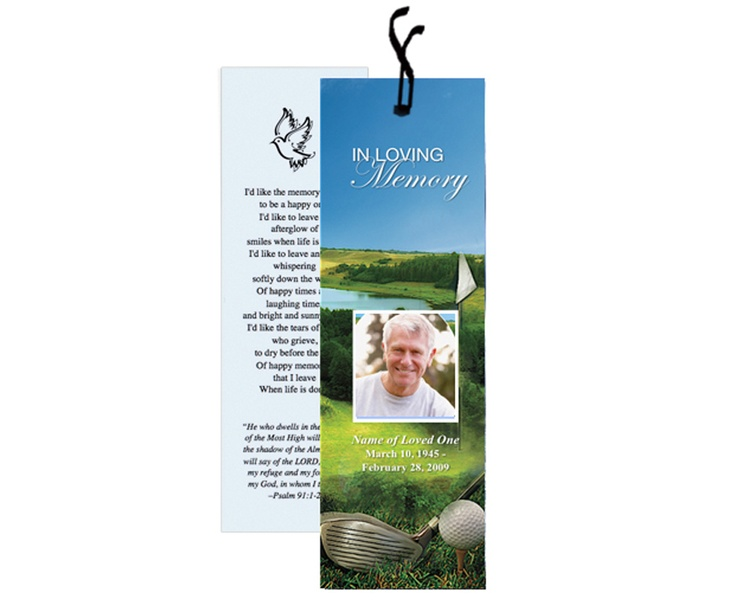 17 Best images about Memorial Bookmarks Printable Templates on ...