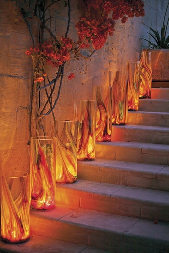 Mdina Glass mediterranean candles and candle holders
