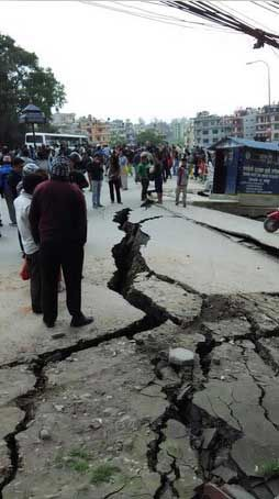 A massive 7.9 magnitude earthquake has struck Nepal less than 50 miles from the capital, Kathmandu. People were killed and injured. Historic buildings in Kathmandu had tumbled to the ground. Avalanches at mount Everest.