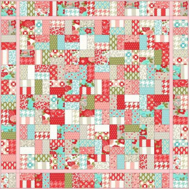 Jelly roll quilt patterns are enormously popular because of their variability and simplicity. The Sugar Sweet Jelly Roll Quilt is no exception. Sew the kind of quilt that will be a staple in your living room for years to come.