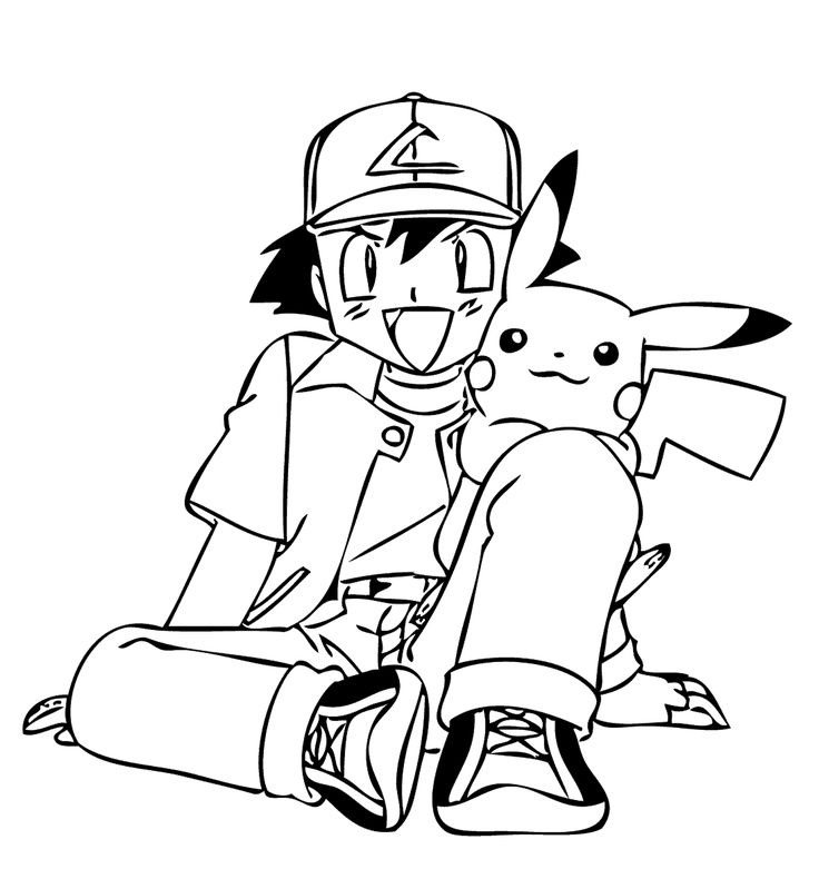 friends from pokemon anime coloring pages for kids  printable free