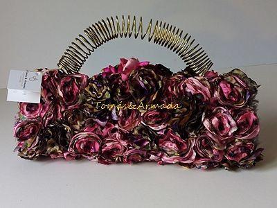 Bolso de fiesta con flores , de la colección pétalos .