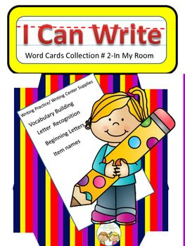 The possibilities are endless with this 25 card set of cards. Each card has an item found in a classroom plus the written word. Students can use them to build the connection between written and spoken words. Cards can be used to build letter recognition and  writing skills.