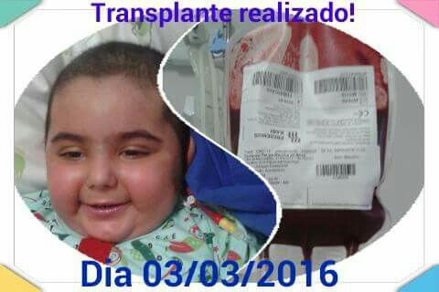 Um ano de transplante... passou rápido. Copiado mãe de Felipe