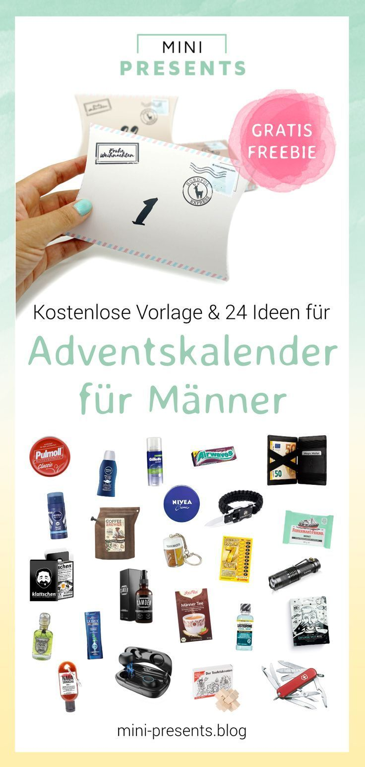 DIY Adventskalender für Männer basteln Diy