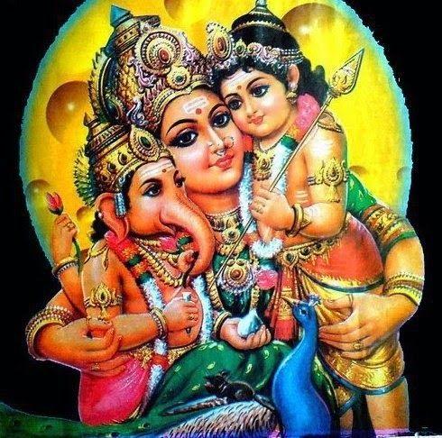 Shri Ganesh Kartikey and Maa Parvati