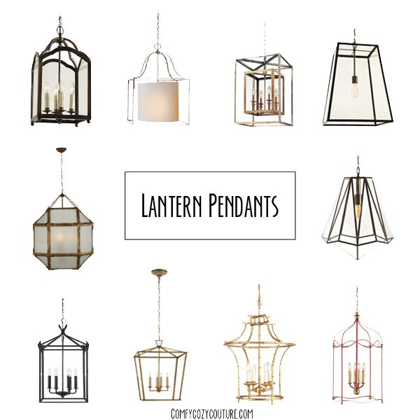 Comfy Cozy Couture: Lantern Pendant Lighting