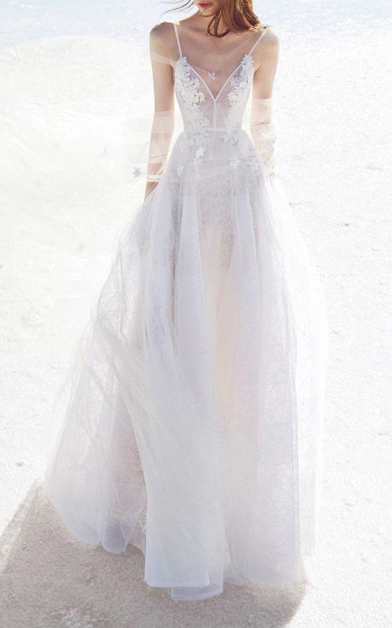 Wedding dress by Alex Perry Bride Anna Lace Floral Embellished GownEdit description