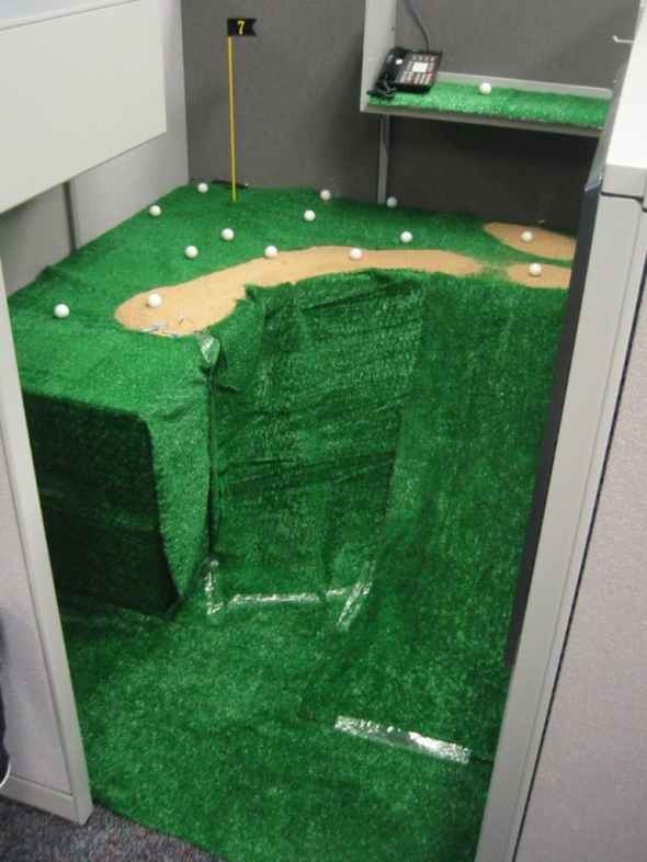 golf office april fools prank