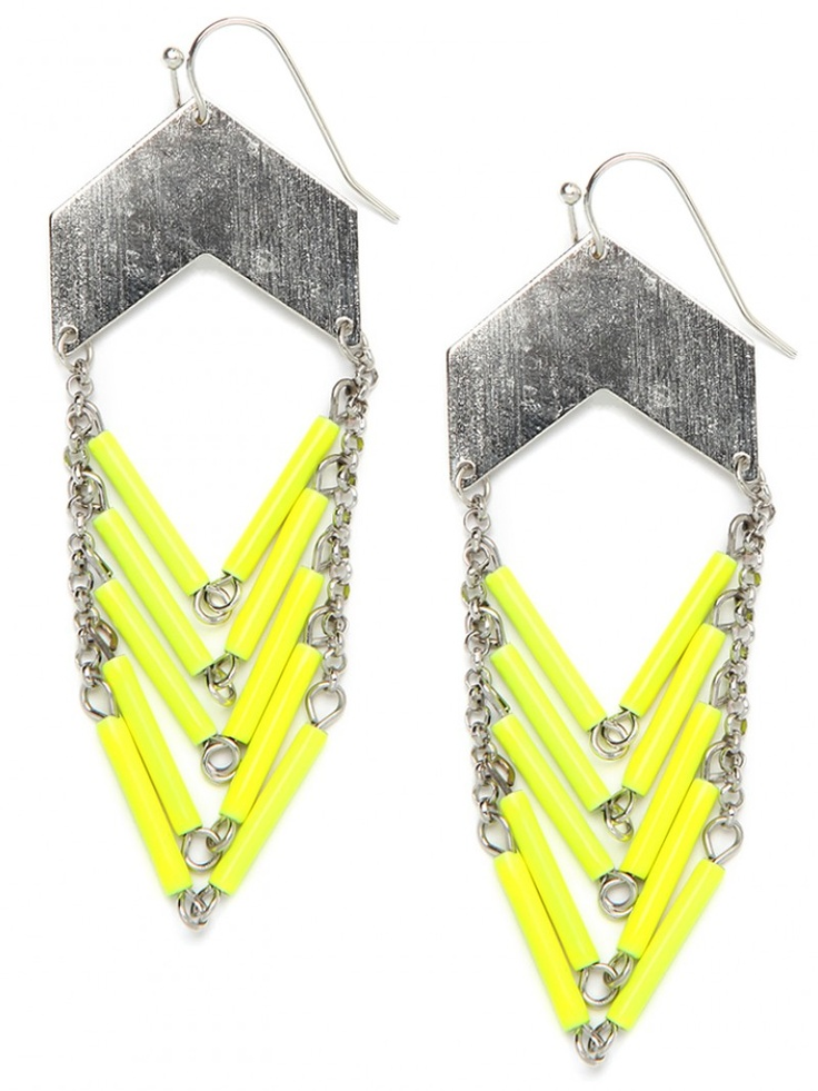 Neon Chevron Earrings