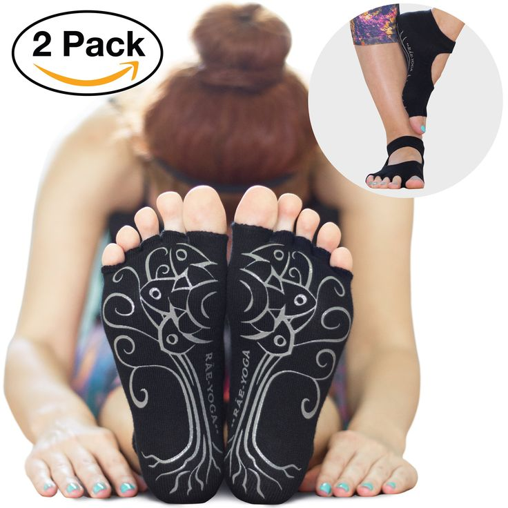 2 Pairs ♥ RAE YOGA Barre Pilates Non Skid Bella Half Toe Grip Socks ♥ Bamboo Barefoot Feel (M-L (8.5-11), Black). NON-SKID SOLE DESIGN ♥ ♥ ♥ Exercise anywhere, with or without a mat! These grippy socks are perfect at home, at the studio, or while traveling. THE HYGIENIC OPTION ♥ ♥ ♥ Bamboo socks are naturally antiallergenic, antibacterial, antifungal and odor-resistant. BEST CHOICE for SENSITIVE SKIN ♥ ♥ ♥ Our bamboo blend is softer than cotton, almost like cashmere. GRIPPY, NOT BUMPY ♥ ♥…