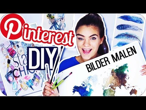 4 PINTEREST DIY's - BILDER MALEN! ◇ Room Deco Inspiration // I'mJette - YouTube