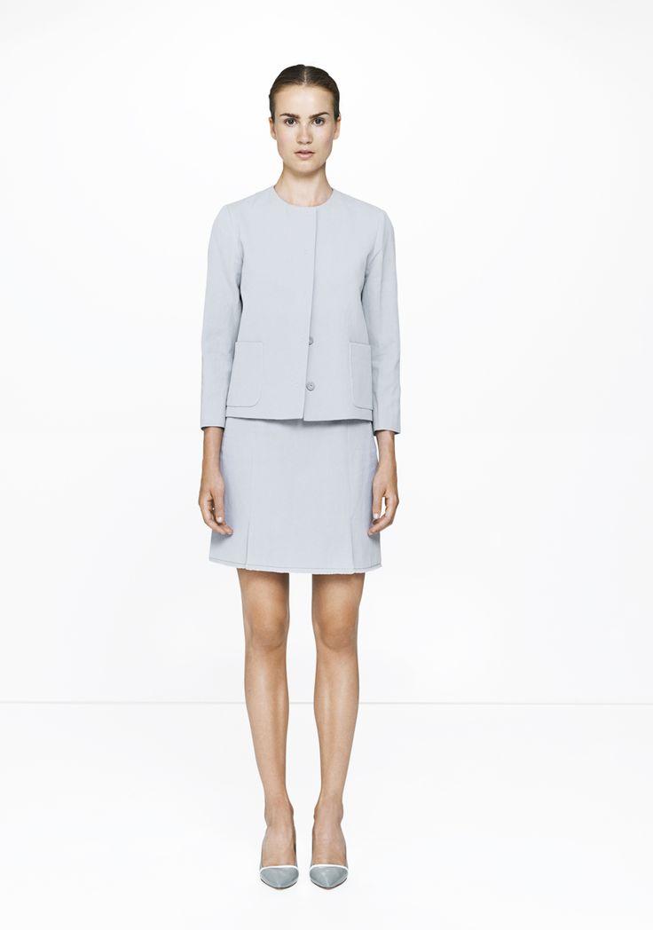 Skirt & jacket /367-8405/538-8405  ELISE GUG SS15