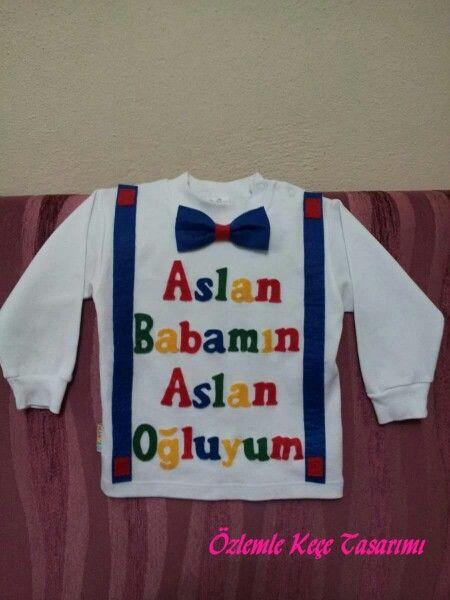 Keçe süsleme tişört