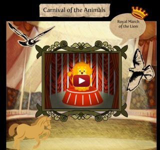 """Carnival of the Animals (scroll down to the """"packet""""...print out and complete while listening to each song)"""