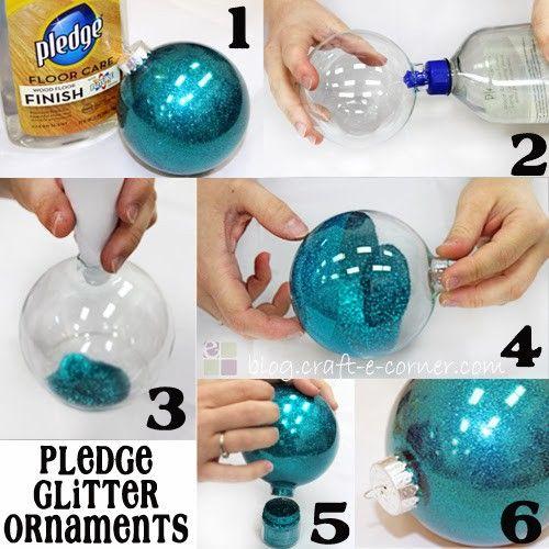 Easy 6 Step Pledge Glitter Ornaments / Craft-e-Corner: Blog
