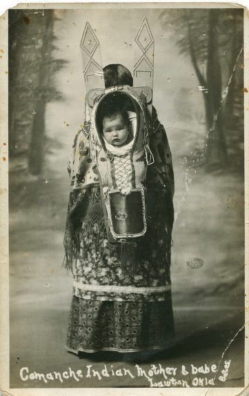 Comanche mother and child near Lawton, Oklahoma - circa 1925