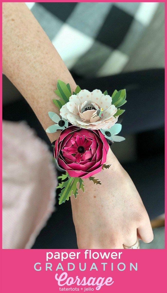 Make A Paper Flower Corsage For Graduation Mothers Day Or