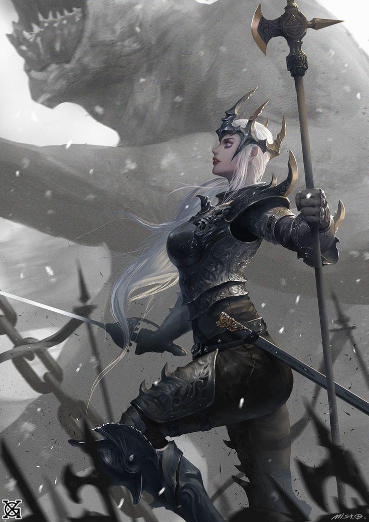 ArtStation - Black matel queen, mist XG