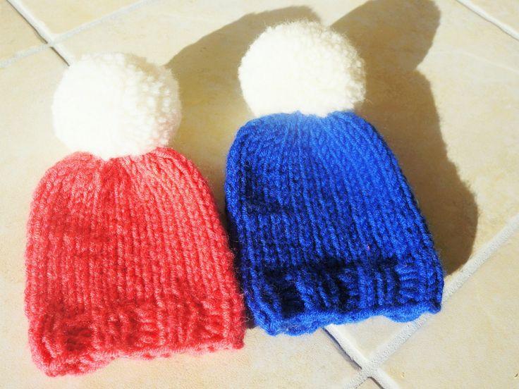 Preemie blue Beanie Hat,twins preemie hat,premature baby boy hat,twin preemie boy girl baby hat,preemie twin photo prop hat,premie baby gift by PocoLocoKnitting on Etsy