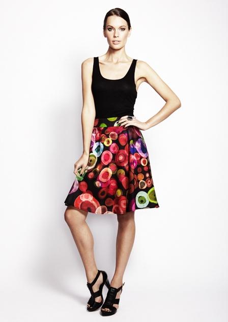 Very Very Fifi Circle print flare skirt
