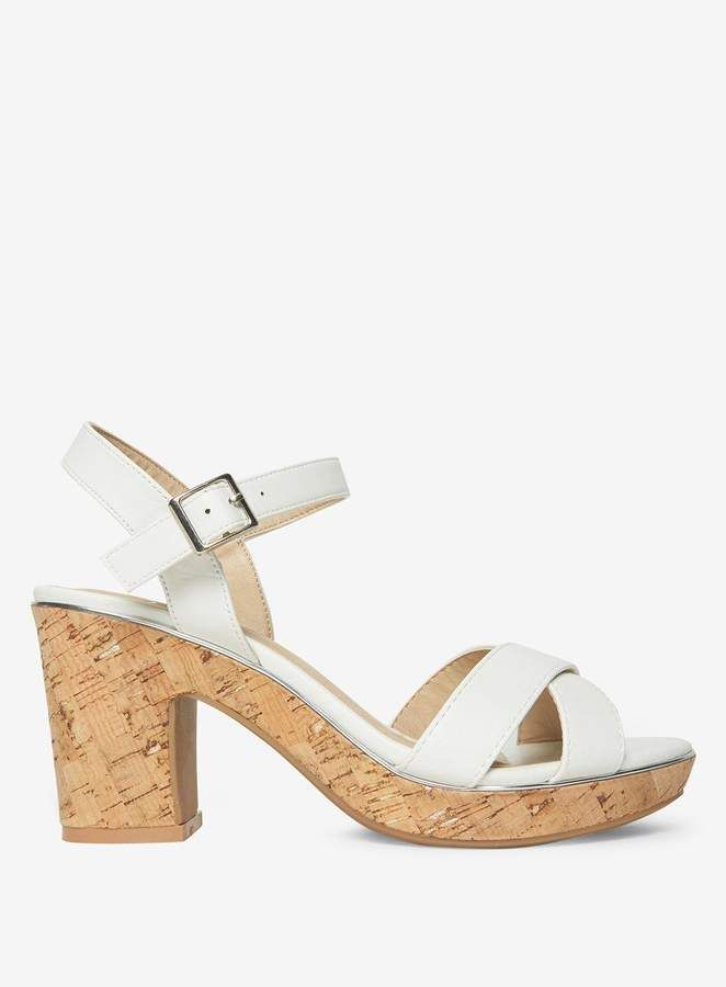 3e2a90c8b698 Heel height is approximately 3 inches. 100% Synthetic. Dorothy Perkins Wide  Fit White  Romy  Sandals.