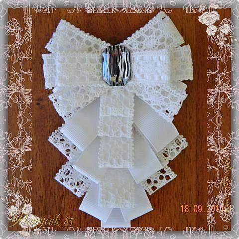 Отличное украшение на блузку для девочки. На авторство не претендую, просто хочу показать как можно самому сделать эту брошку. фото 22