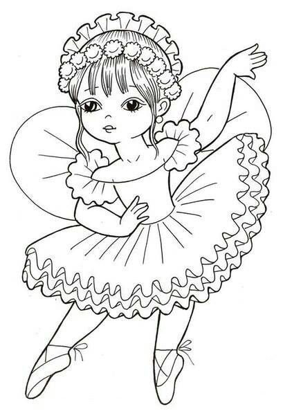 cute fairies coloring pages - photo#19