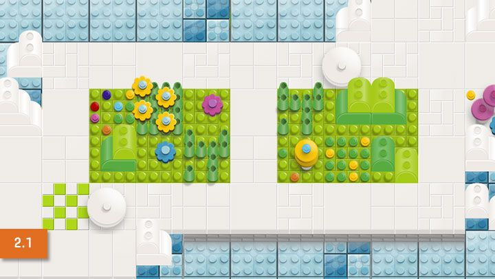 Move bit by bit- lego game for kids to develop coding...