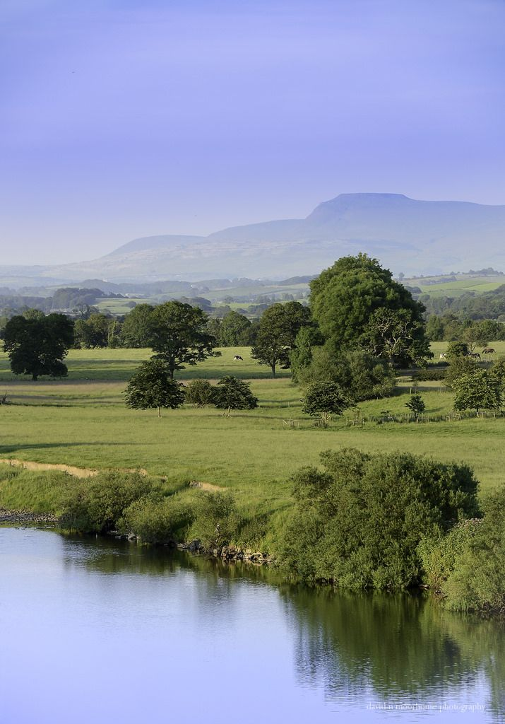 Lune Valley, Lancashire, England. Follow in the footsteps of painters and poets and discover the perfect landscape of the Lune Valley. The gentle countryside is perfect for walkers looking for a quiet stroll or longer rambles with plenty of scenic places for a picnic.