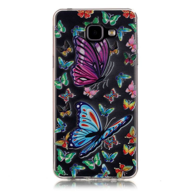 >> Click to Buy << Butterfly Flower Case For Samsung Galxy A5 2016 Cute Cartoon TPU Clear Transparent Slim Relief Soft Back Cover A510 A510F Case #Affiliate