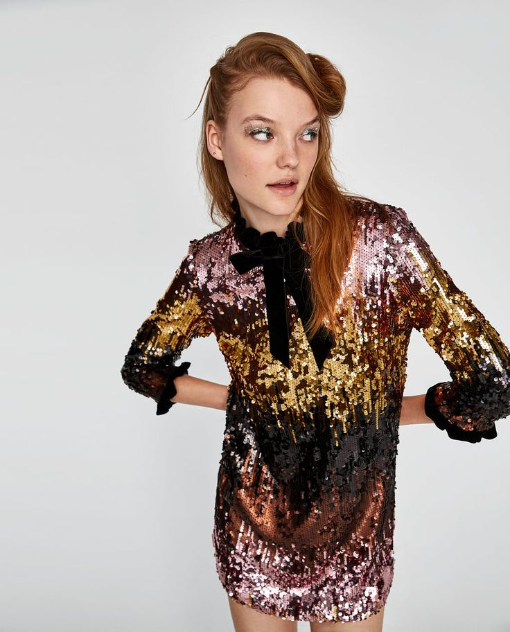 OMBRÉ SEQUINNED DRESS-Collection-GET READY | WOMAN-EDITORIALS-NEW IN | ZARA United States