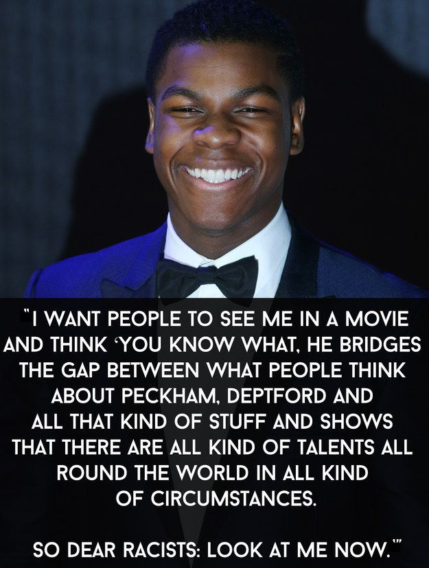 "He also said this in an interview with Charlie Sloth. | 19 Signs That John Boyega Is Enjoying Being In ""Star Wars"" So Damn Much"