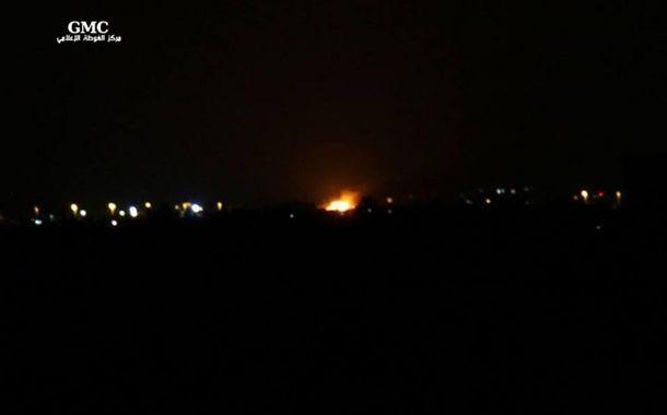 Sendika (.) Org ///  Suriye: Şam Uluslararası Havalimanı yakınında büyük patlama