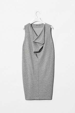 COS Jersey drape neck dress