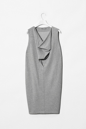 COS Jersey drape neck dress