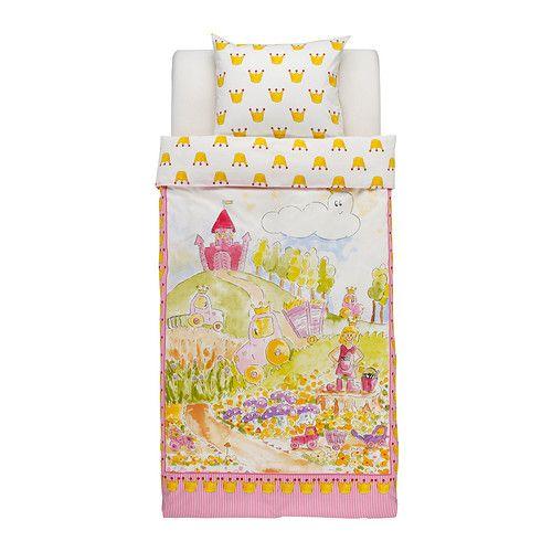 IKEA - NATURKÄR, Housse de couette et taie, , En coton, doux et agréable sur la peau de votre enfant.