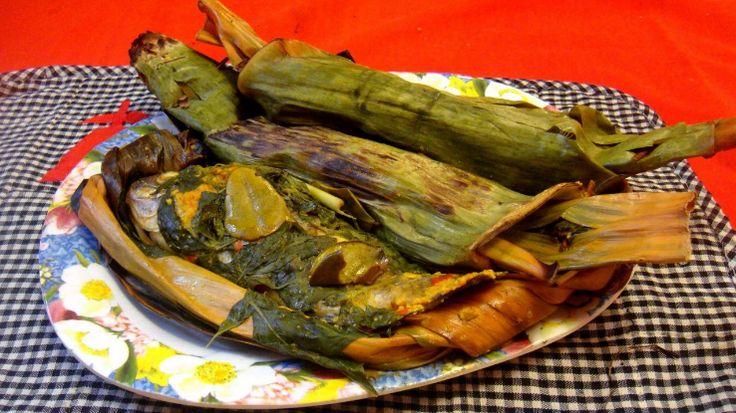 Brengkes bandeng dengan daun pisang membuat aroma wangi yang menggoda selera.