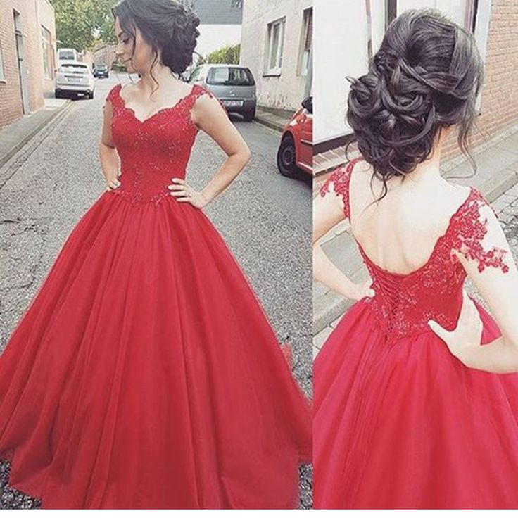 New red A-line Elegant Charming Lace Wedding Party dresses. The wedding dresses are fully lined, 4 bones in the bodice, chest pad in the bust, lace up back or zipper back are all available, total 126