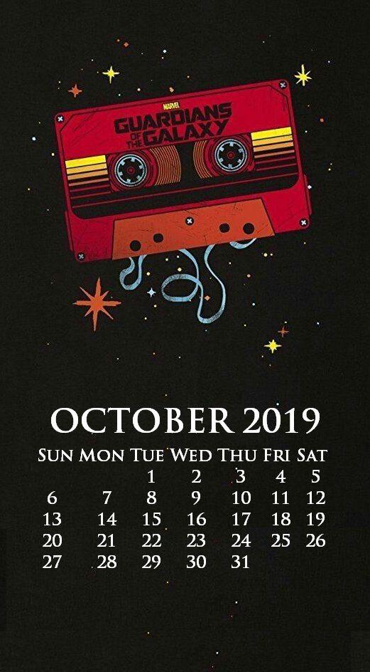 Marvel October iPhone 2019 Wallpaper