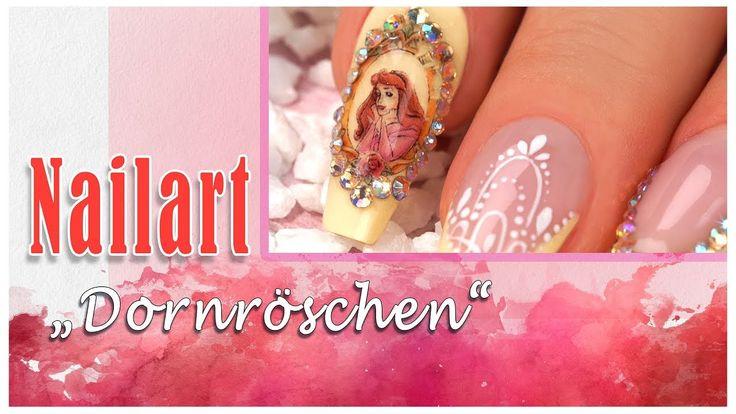#nailart #tutorial #tattoo #trend #fairytale Jedes Mädchen wollte eine Prinzessin sein. Auch wenn wir es nicht mehr werden, unsere Fingernägel können es. Eine schillernde Variante mit dem neuen Jolifin Trend Tattoo Prinzess und dem LAVENI Strass-Display - apricot irisierend haben wir hier für Dich vorbereitet. Hier findest Du die entsprechenden Produkte: https://www.prettynailshop24.de/shop/nailart-dornroeschen-video_1385.html?utm_source=pinterest&utm_medium=referrer&utm_campaign=pi_NA3217