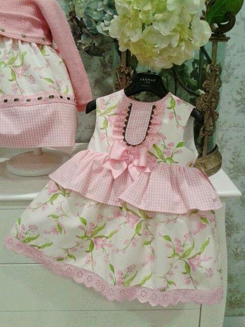 Gingham peplum Cocolina moda infantil