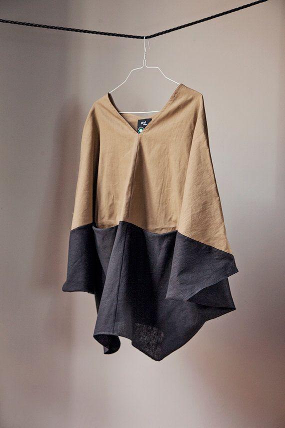 Tunic top Linen top Cotton top Women blouse Long sleeve por Nmeno1