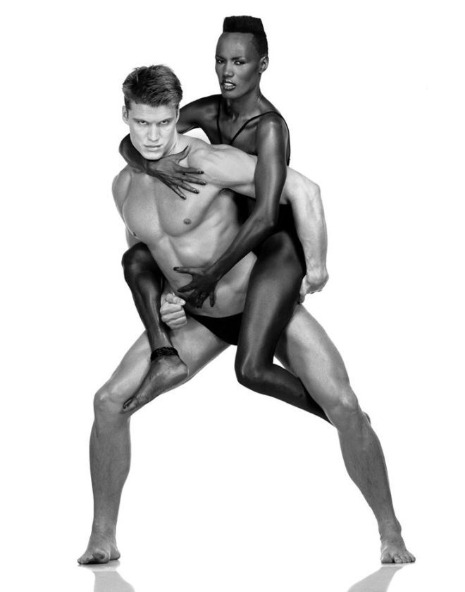 Dolph Lundgren and Grace Jones, Helmut Newton, 1983