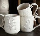 Alphabet Mugs   Pottery Barn