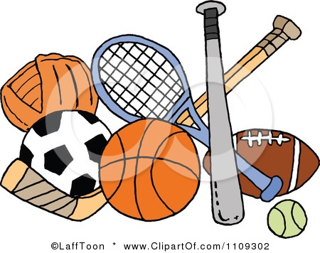 sports baby shower clip art sports | ... Sports Equipment Posters, Art Prints by LaffToon - Interior Wall Decor