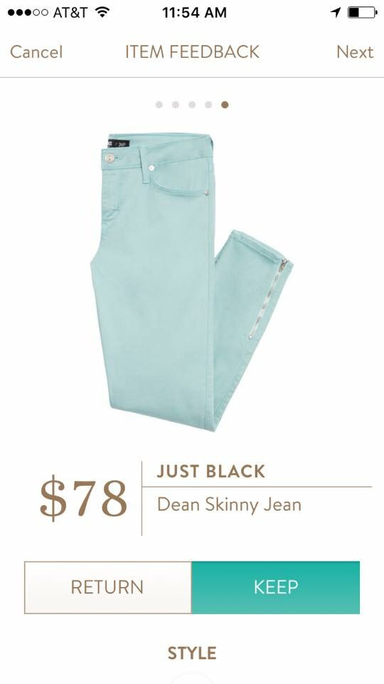 Stitch fix stylist love these jeans in mint green