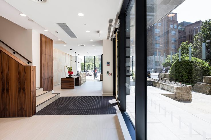 One Love Lane is 880 square meters of prominent, modern office building located on the junction of Love Lane and Aldermanbury in London and overlooks the gardens laid out in the historic remains of the Church of St Mary Aldermanbury.